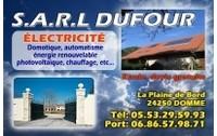 Sarl dufour electricite plaine de bord domme alarme s curit for Garage photovoltaique gratuit
